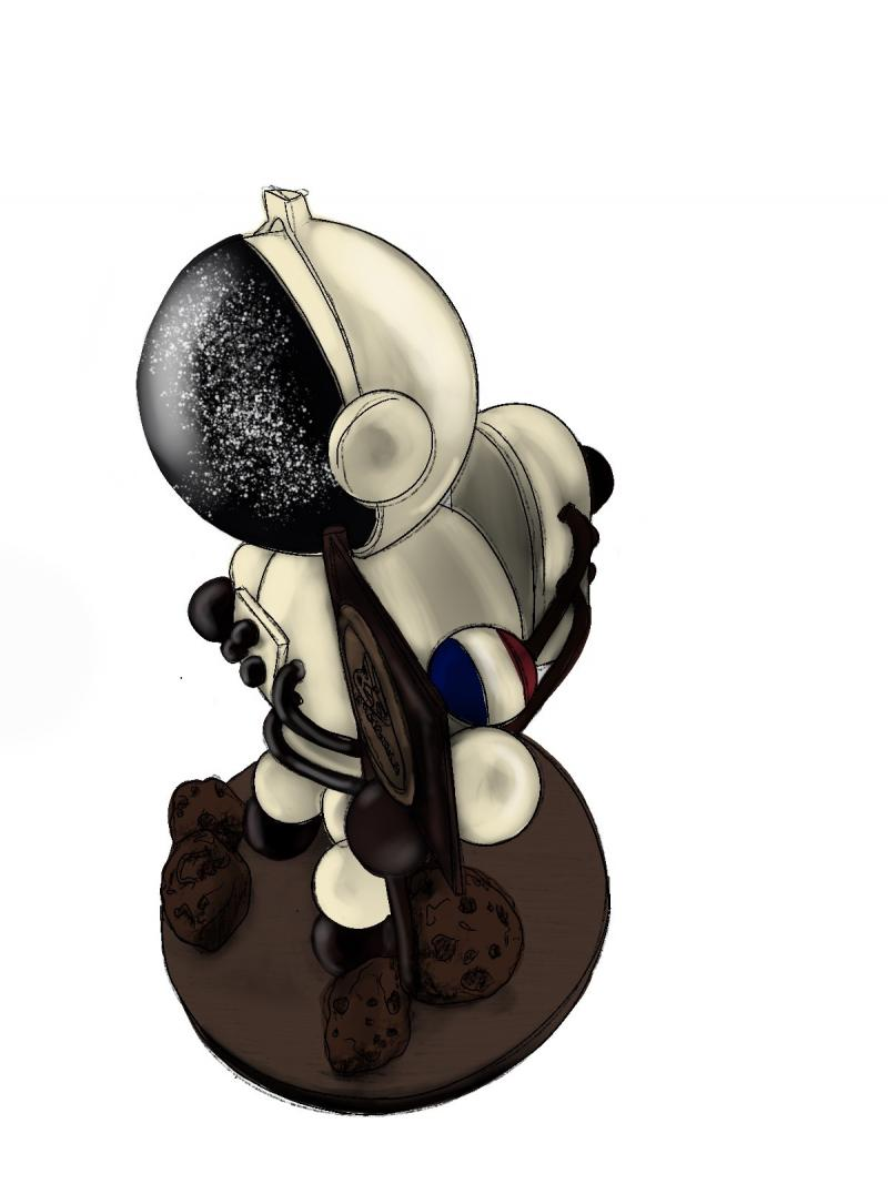 chocolate astronaut