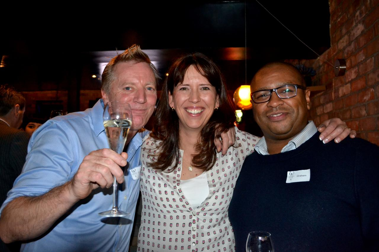 Ruth Hinks with Martin Chiffers and Graham Hornigold