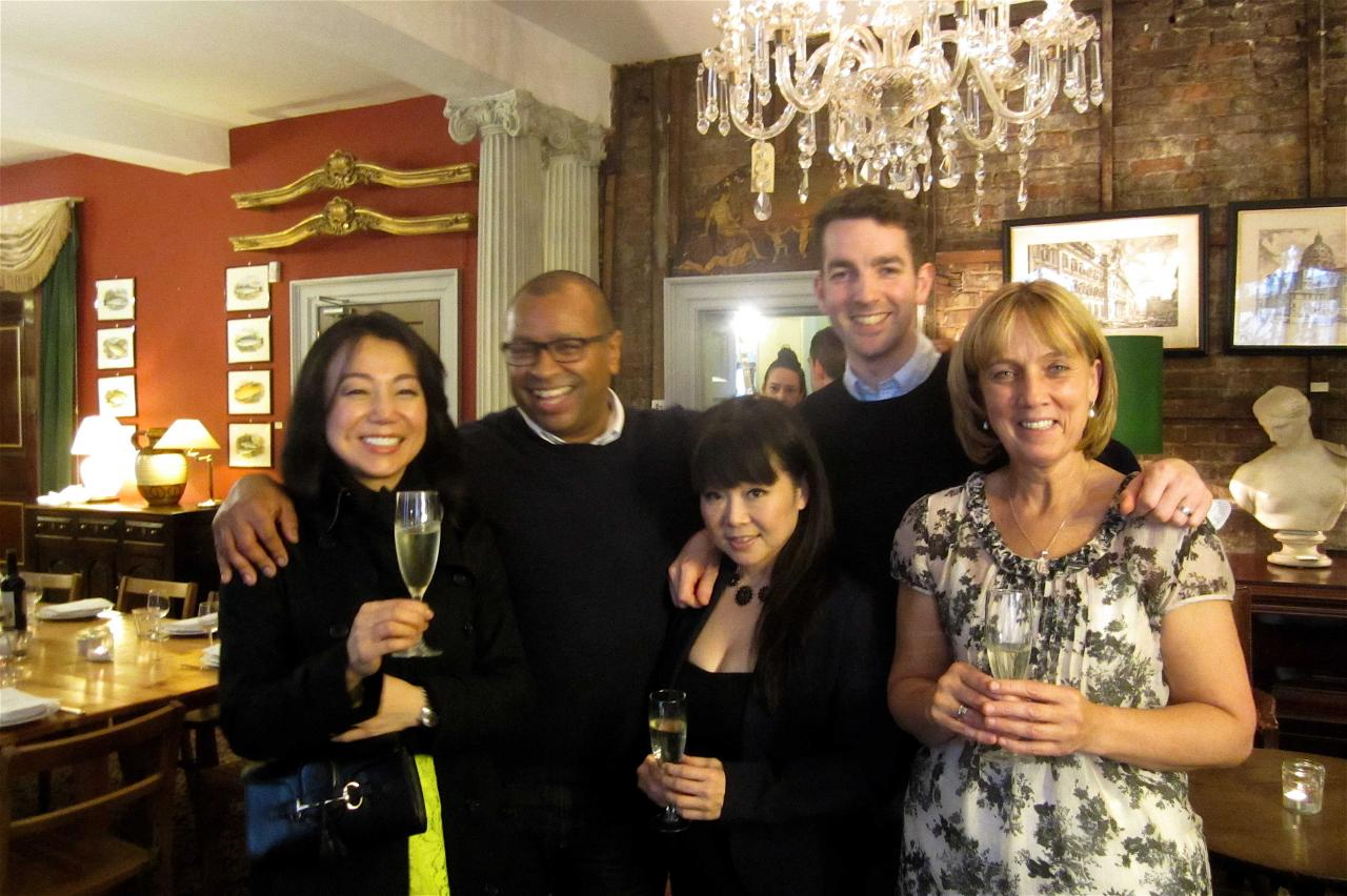 Hideko Kawa, Graham Hornigold, Cherish Finden, Daniel Pearse and Julie Sharp