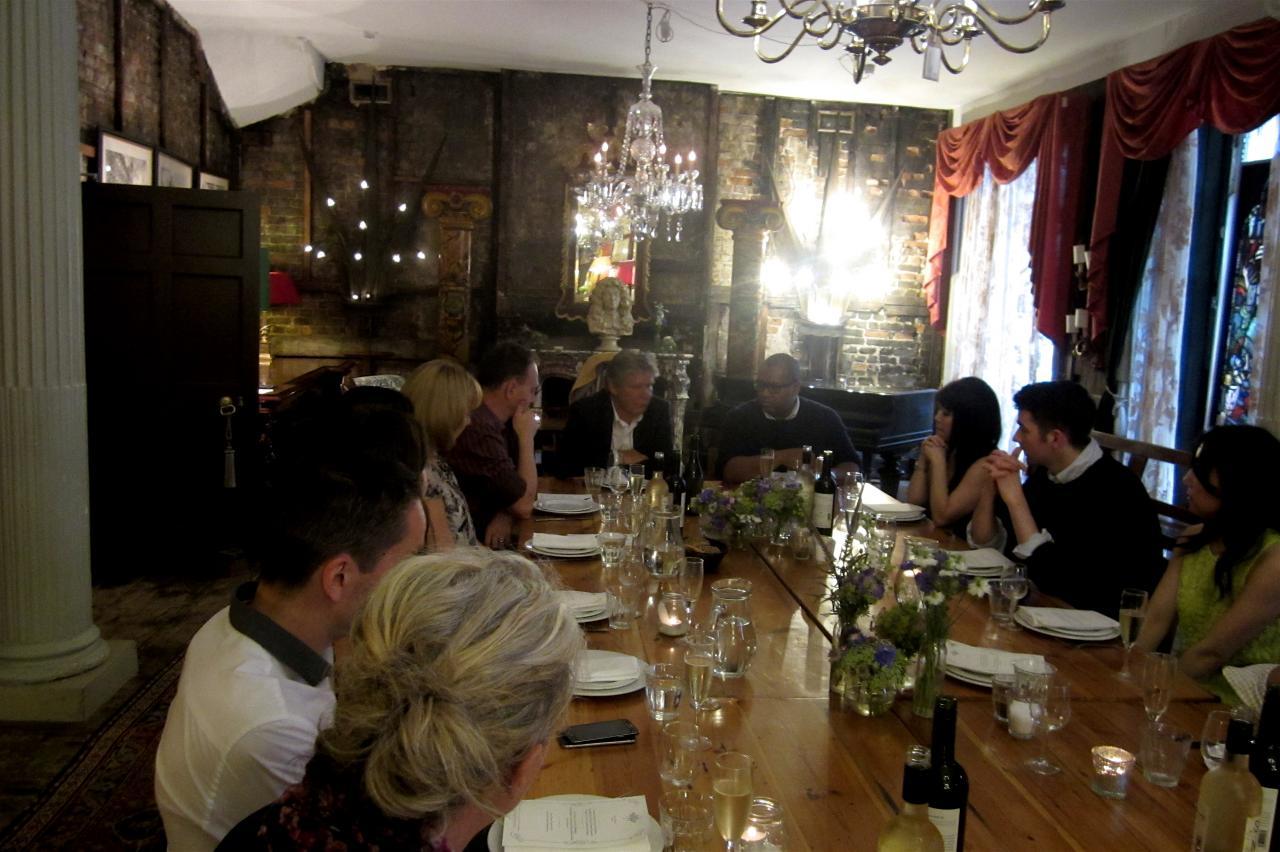 Pleasant atmosphere around the table