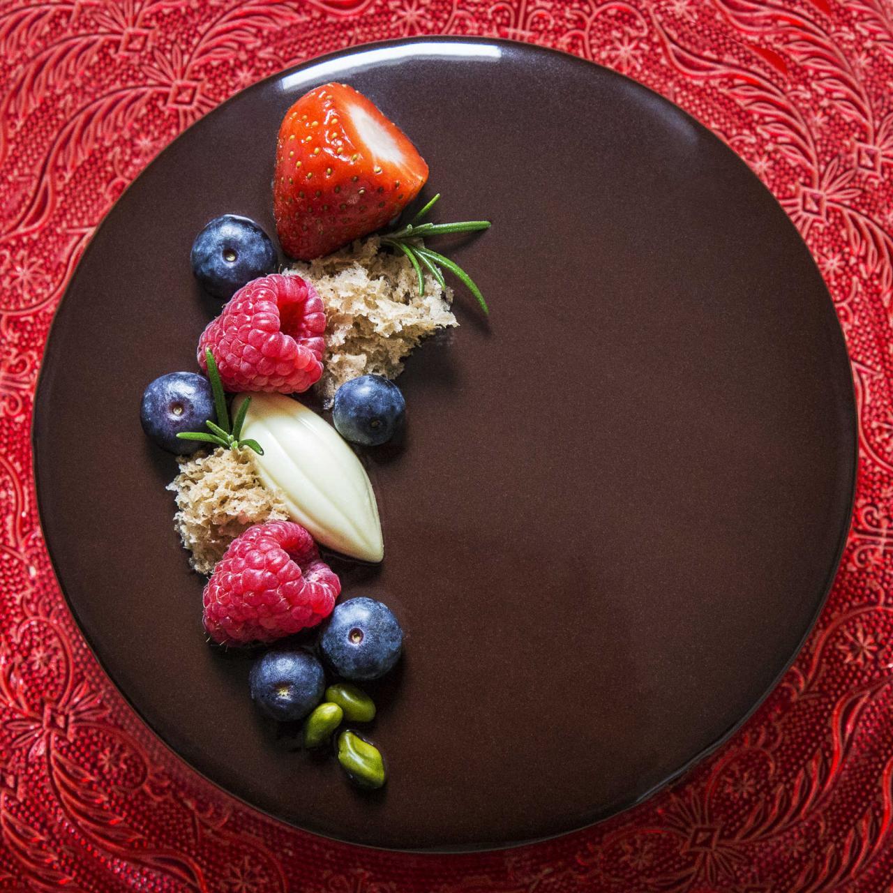 Chocolate cake by Helen Vass. Photo: Debbie Pipe