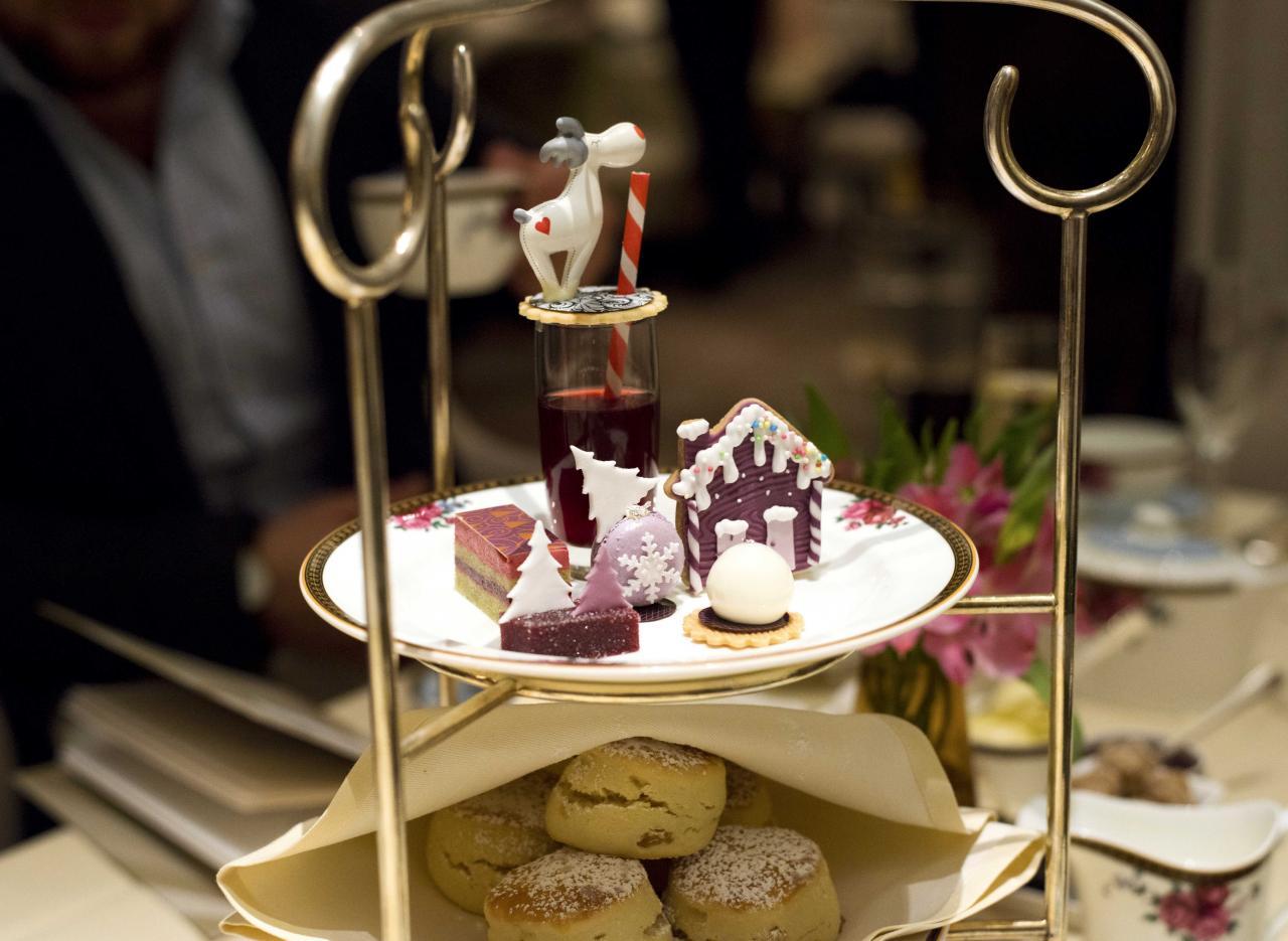The Langham festive pastries. Photo: HdG photography