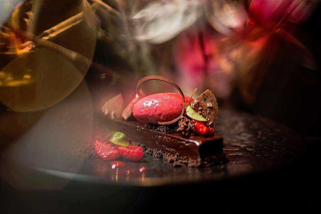 Chocolate and Raspberry Marquise from Hakkasan
