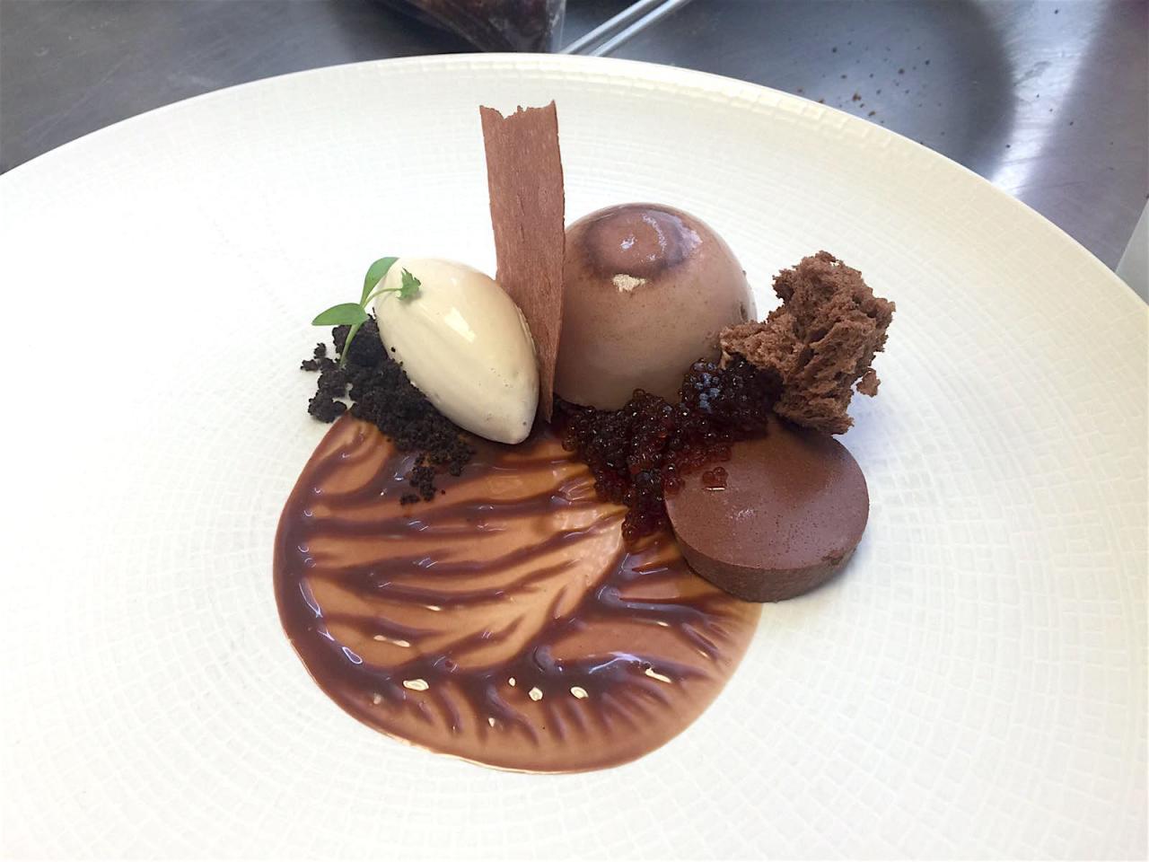 The chocolate panna cotta. Photo: Courtesy of Ryan Thompson