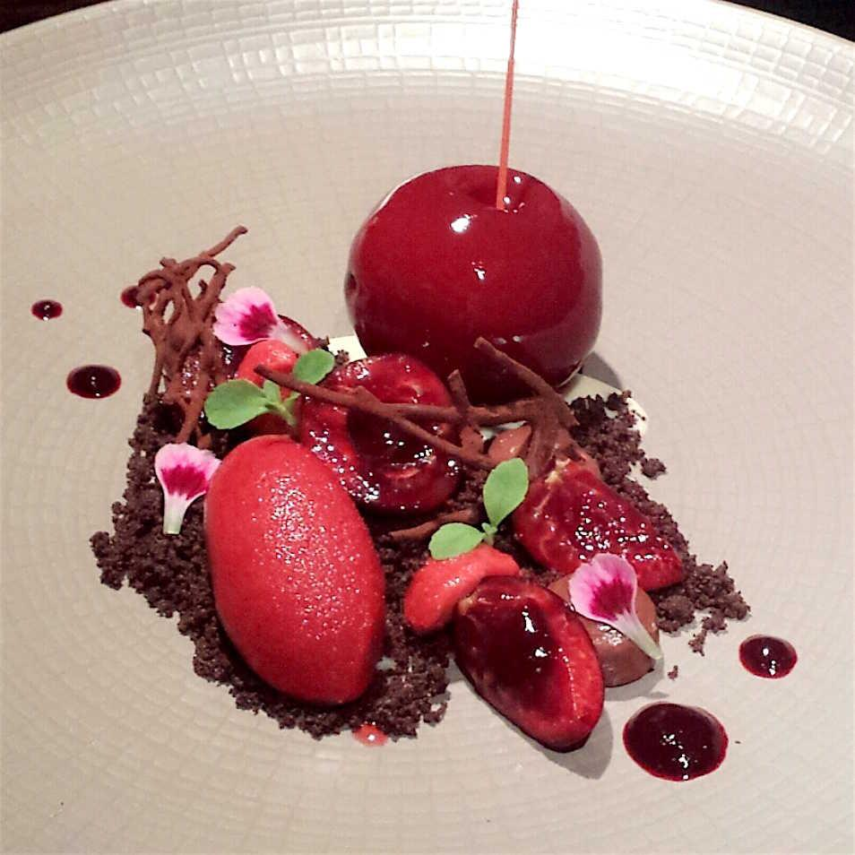 Chocolate cherry sphere at Hakkasan. Photo: courtesy of Hakkasan