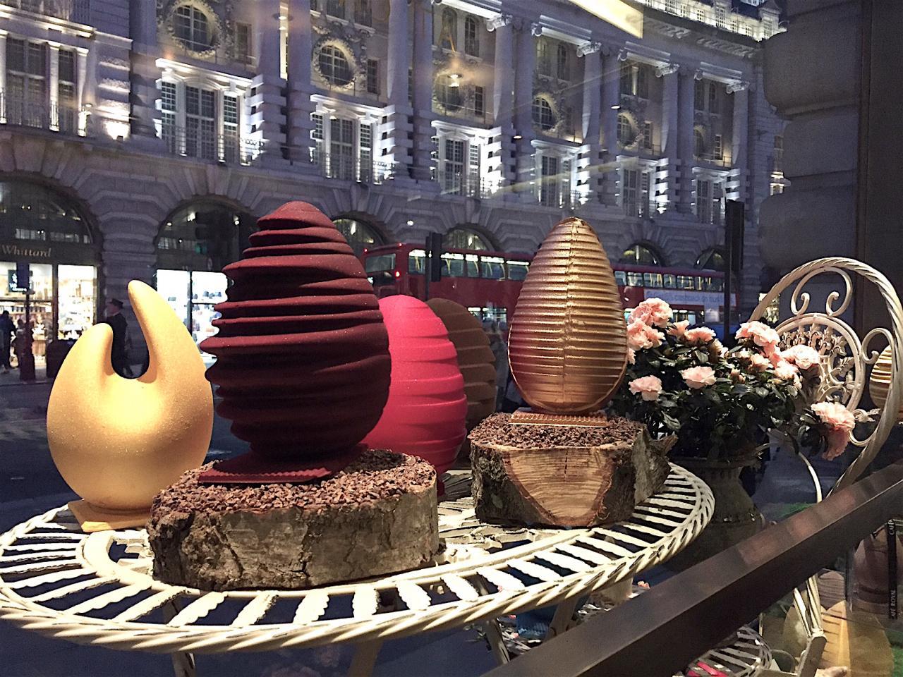 The edible chocolate display at Café Royal