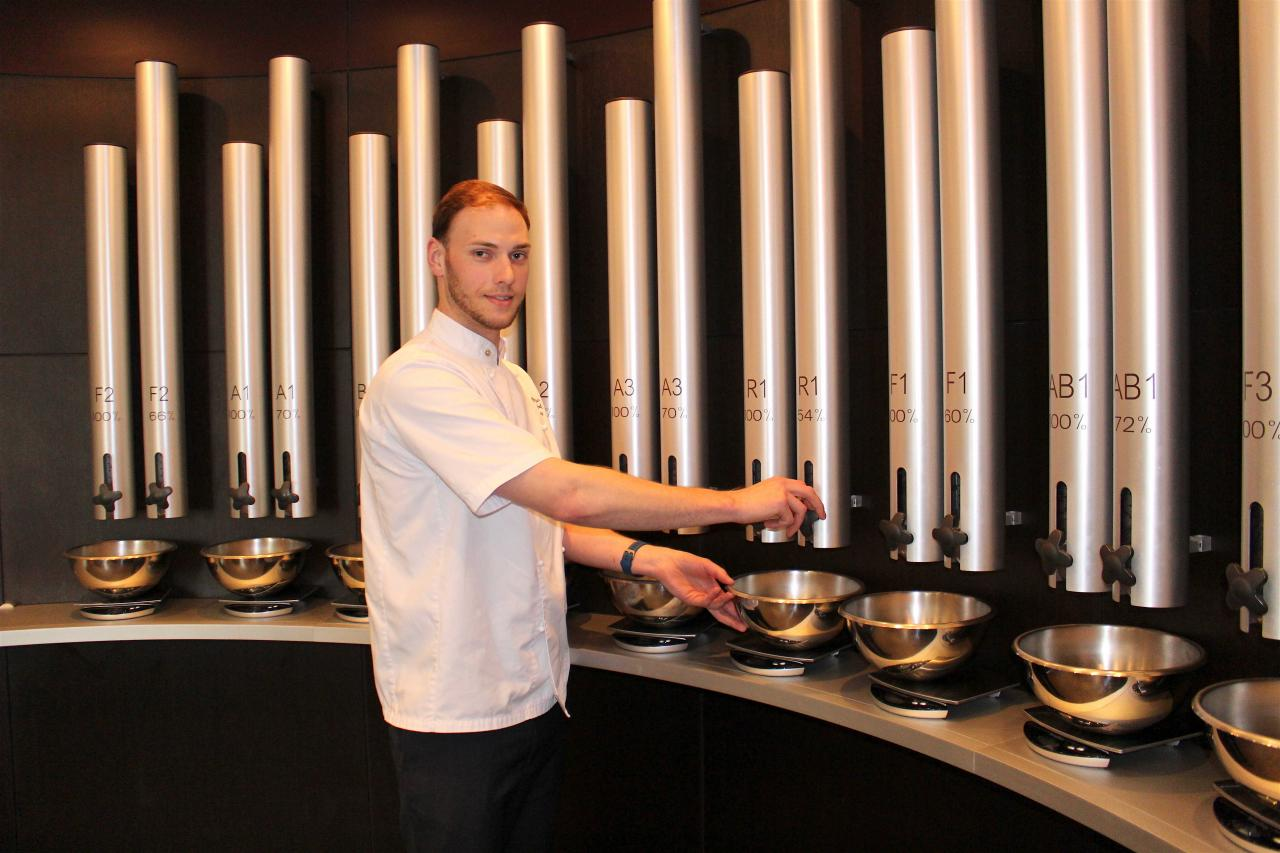 Reece Collier creating his Or Noir Chocolate