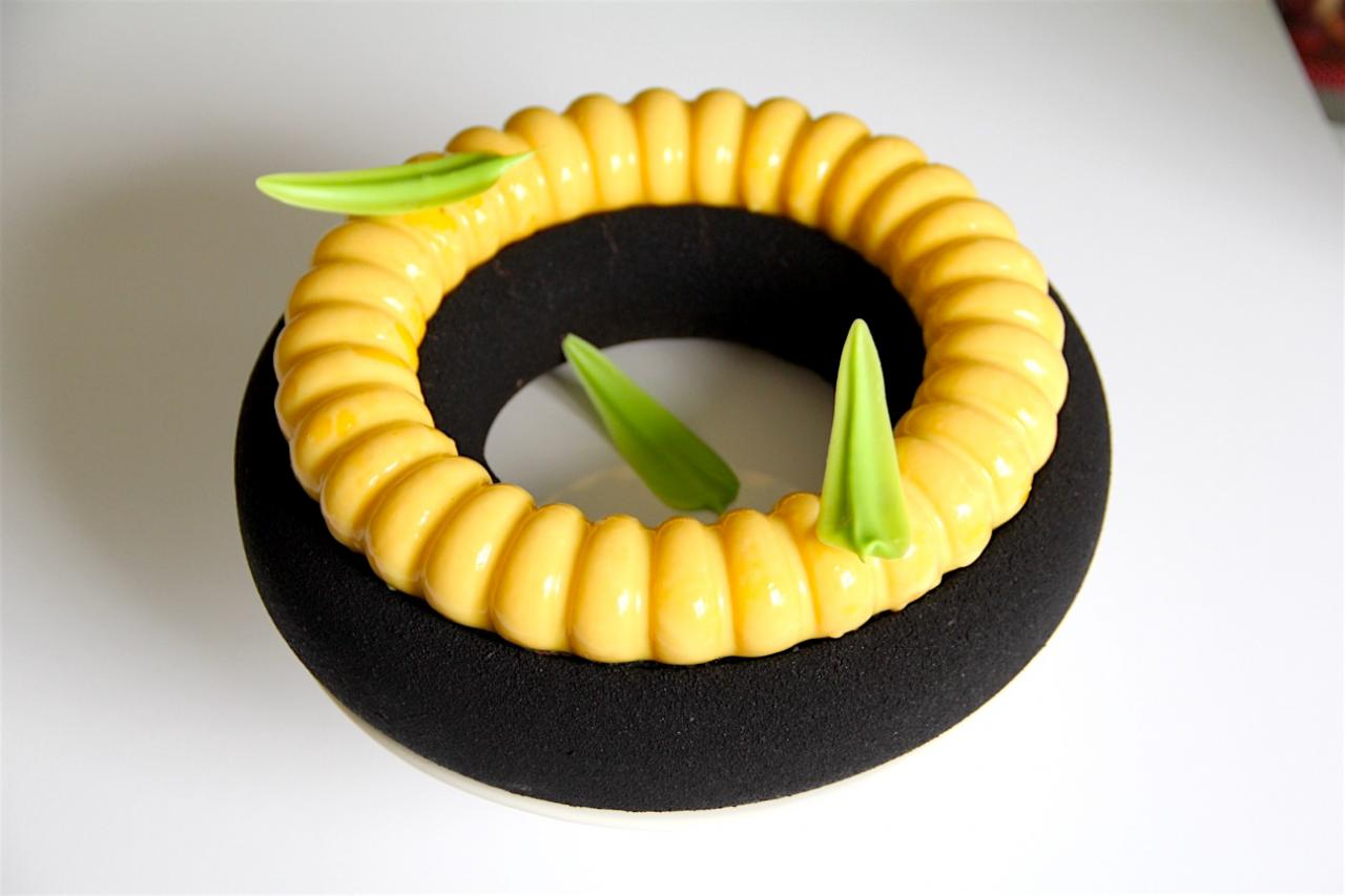 Inaya and mango entremet by Mark Tilling