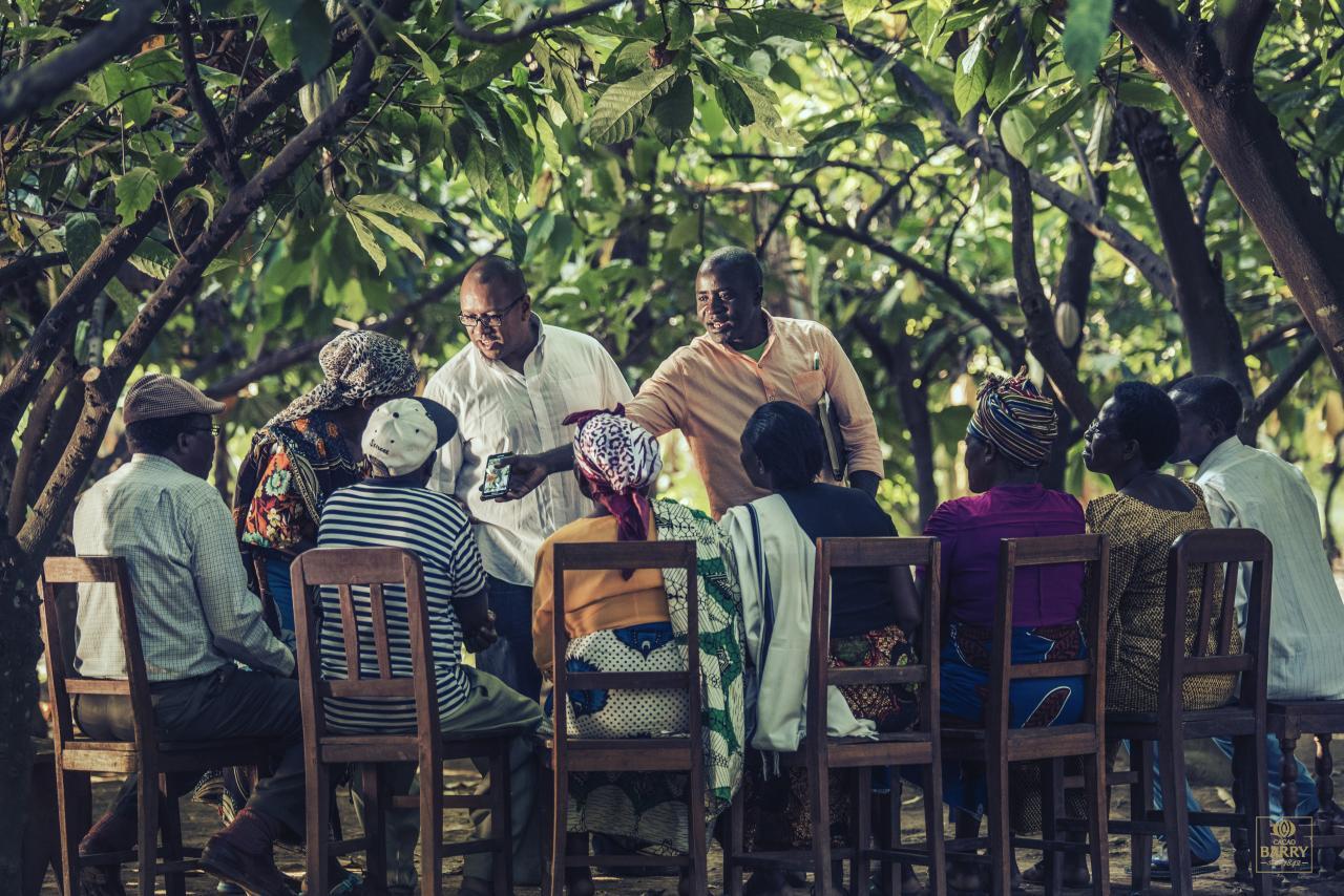 Graham Hornigold at a plantation trip in Tanzania