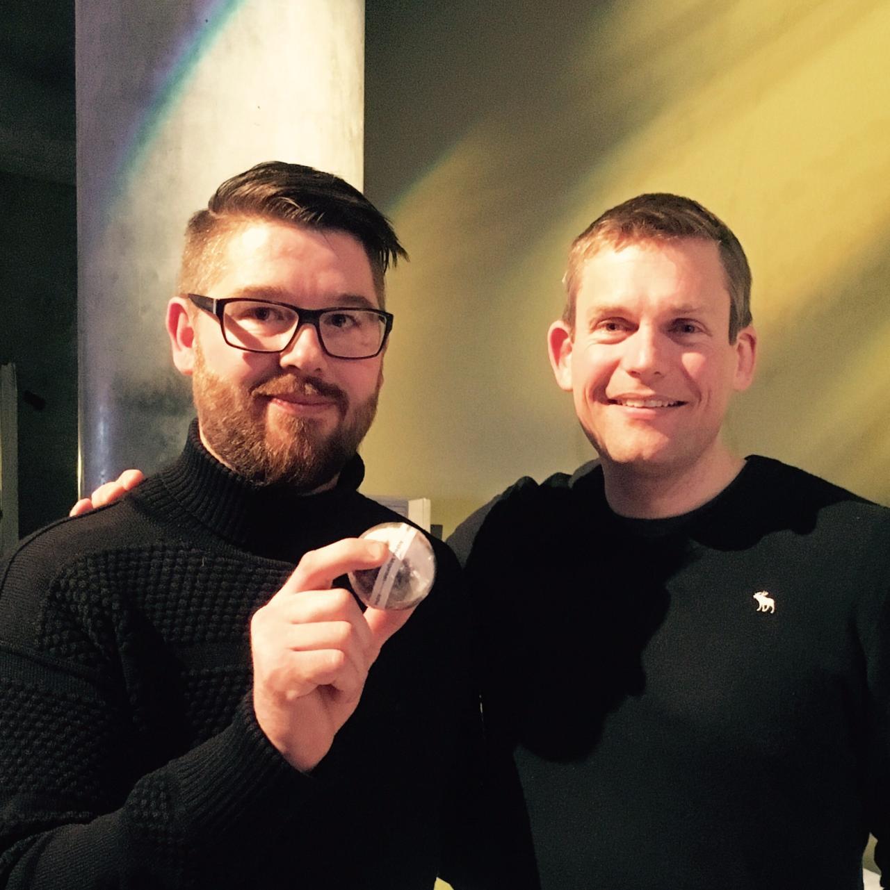Palle Sørensen with the astronaut Andreas Mogensen