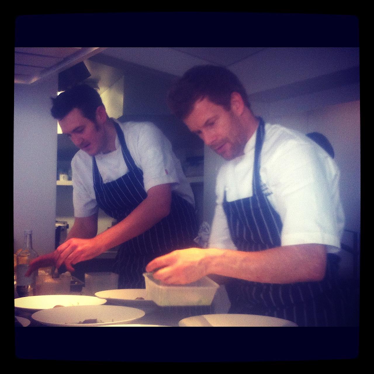 Chris with Tom Aikens