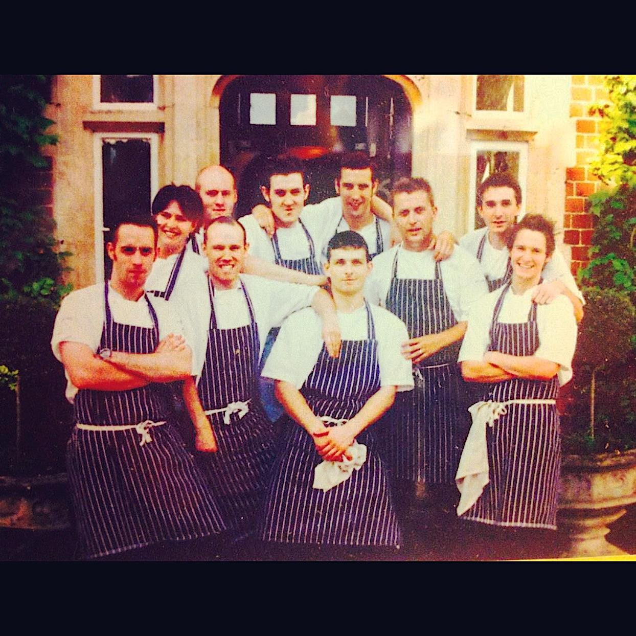 Chris with the team of at L'Ortolan